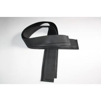 Instap rubber links en rechts, Zwart