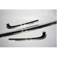 Chroom for rear bumper, steel-chroom, 3-Piece