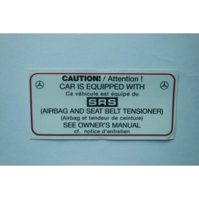 Sticker SRS airbag